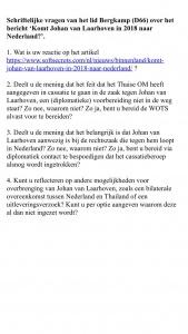 Nieuwe kamervragen Vera Bergkamp December 2017